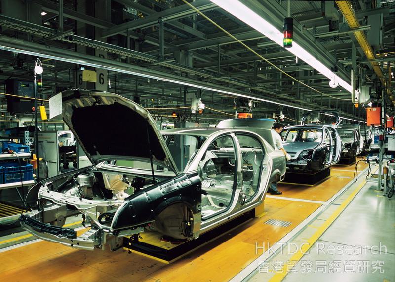 相片:符合汽车产业「及时生产」运作模式需求