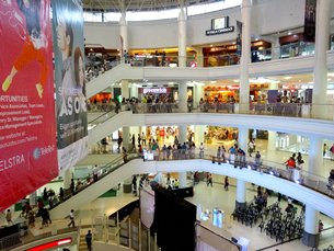 Photo: A shopping mall next to BPO centres in Cebu