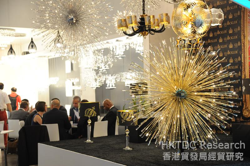 Photo: Lighting products shown at the Fair