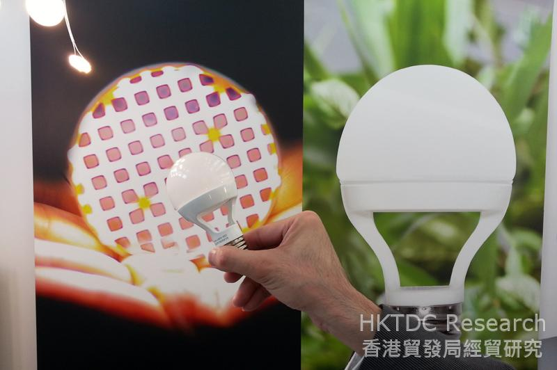 Photo: Cledos demonstrated its LED products at the Fair