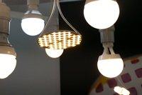 相片:会上展示的LED产品