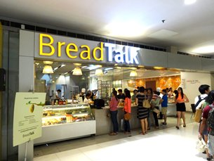 Photo: BreadTalk, a Singapore food brand, has its stores mainly located in the malls.
