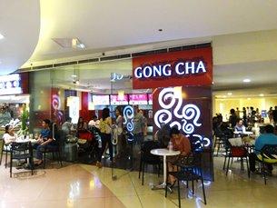 圖: 商場內的台灣「貢茶」店。