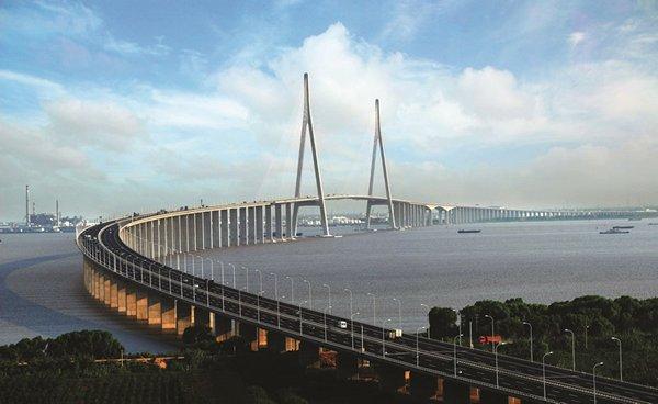 相片:AECOM為中國江蘇省蘇通大橋提供交通運輸工程設計服務(相片由AECOM提供)