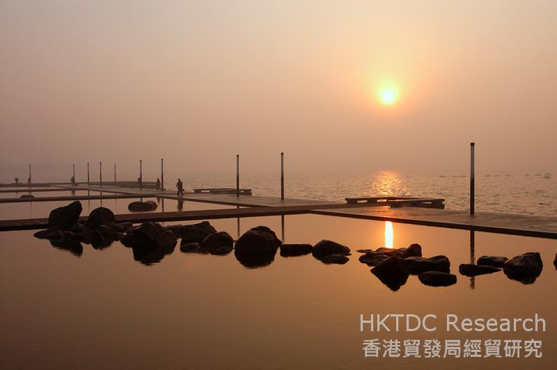 相片:AECOM為江蘇省蘇州金雞湖區制定景觀總體規劃(相片由AECOM提供)