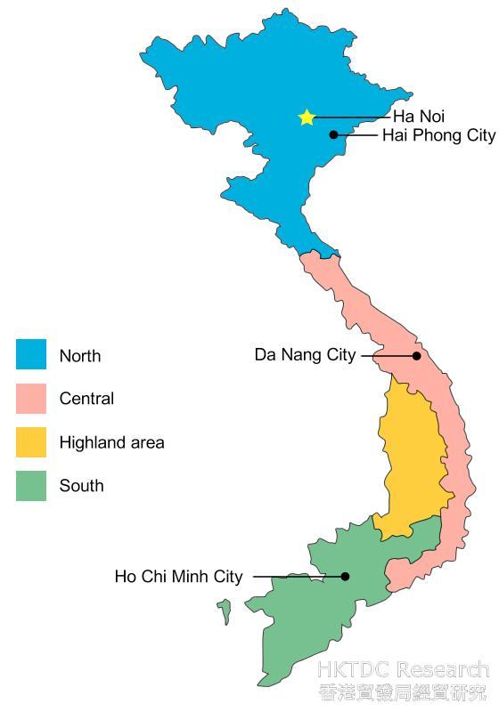 Map: Vietnam