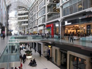Photo: The Toronto Eaton Centre: The largest urban mall in Canada, accommodating some 230 shops