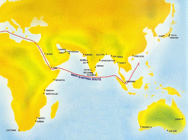 Map: Colombo, the capital of Sri Lanka, lies at the centre of a major trade route
