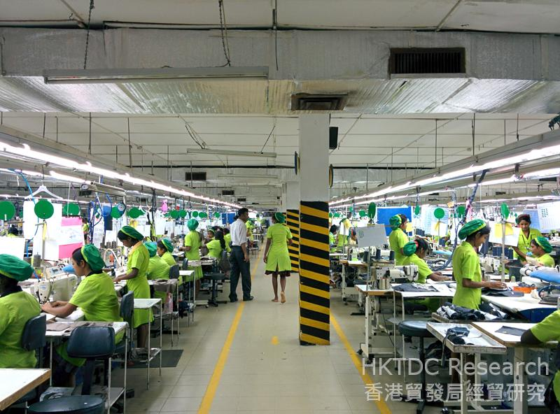 Photo: Western pop music is played in the factory.