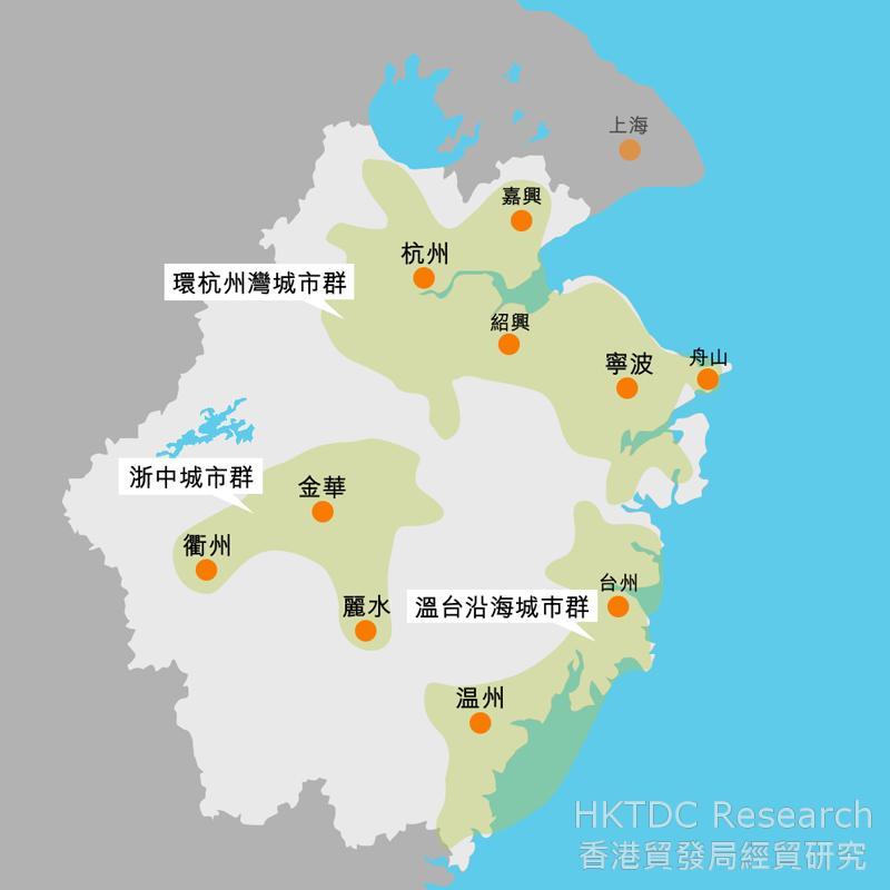 圖:浙江省城鎮空間結構規劃圖