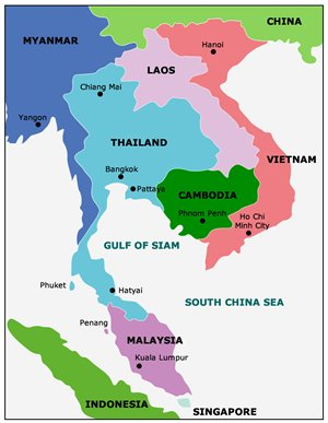 Thailand aseans key logistics hub hong kong means business map thailands border countries gumiabroncs Images