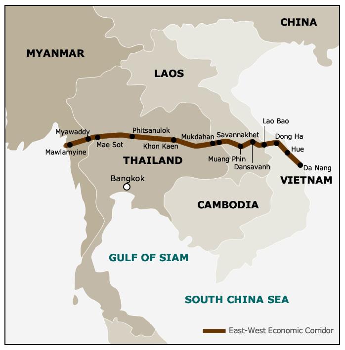 Map: GMS East-West Economic Corridor