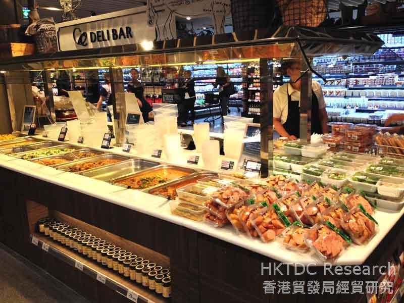 圖: 超級市場提供即食產品。