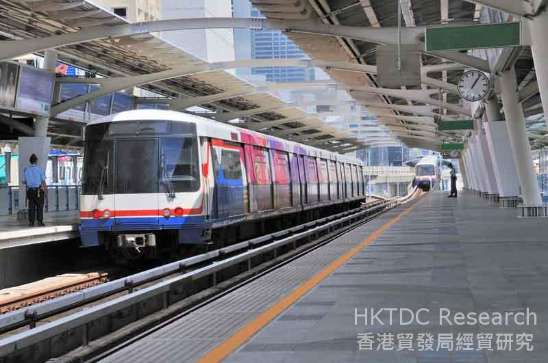 图: 曼谷的集运系统:BTS架空铁路