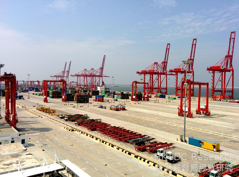 Photo: Fully operational: The South Container Terminal, part of the Colombo Port Expansion Project