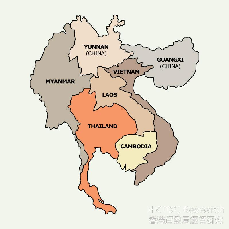 Map: The Greater Mekong Sub-region (GMS)