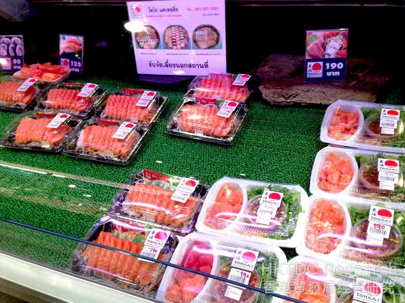 图: 超级市场售卖冷冻食品。