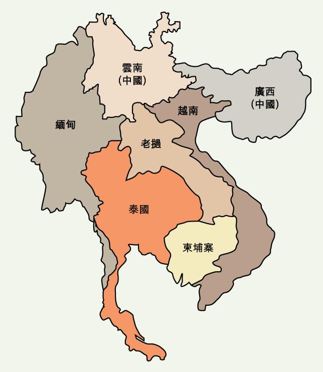 地图: 大湄公河次区域