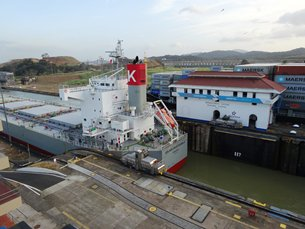 Photo: Miraflores Locks are one of the three locks systems on the canal, located on the Pacific side
