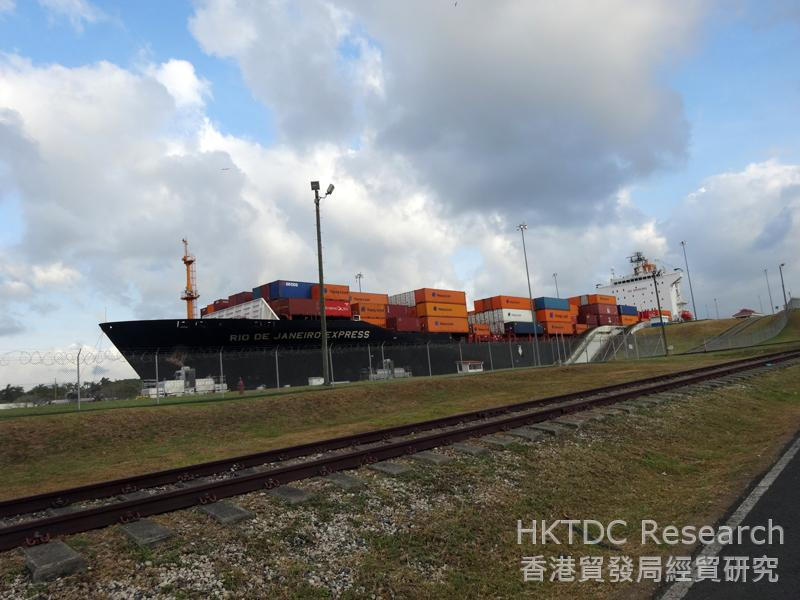 Photo: Gatun Locks are located on the Atlantic side of the canal, near the city of Colón.