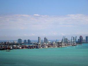 相片:迈阿密港是最接近巴拿马运河的美国东岸港口。