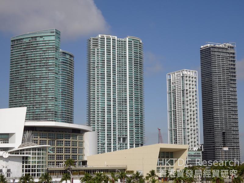 相片:拉美資金不斷湧入邁阿密,推高市場對豪華公寓、高檔市區住宅和商業空間的需求。