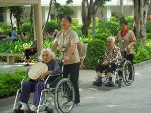 Photo: Wheelchair-friendly garden around Shouxing Building.