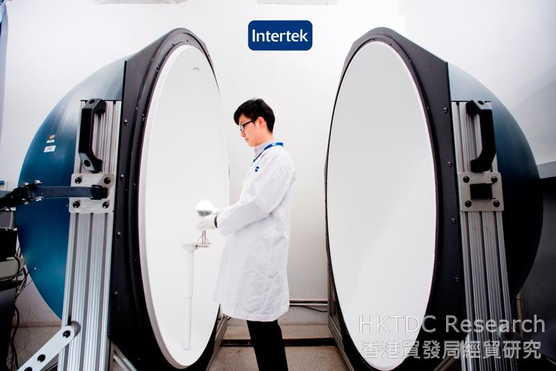 Photo: Intertek's testing facilities - Integrating Sphere for lamp measurement testing