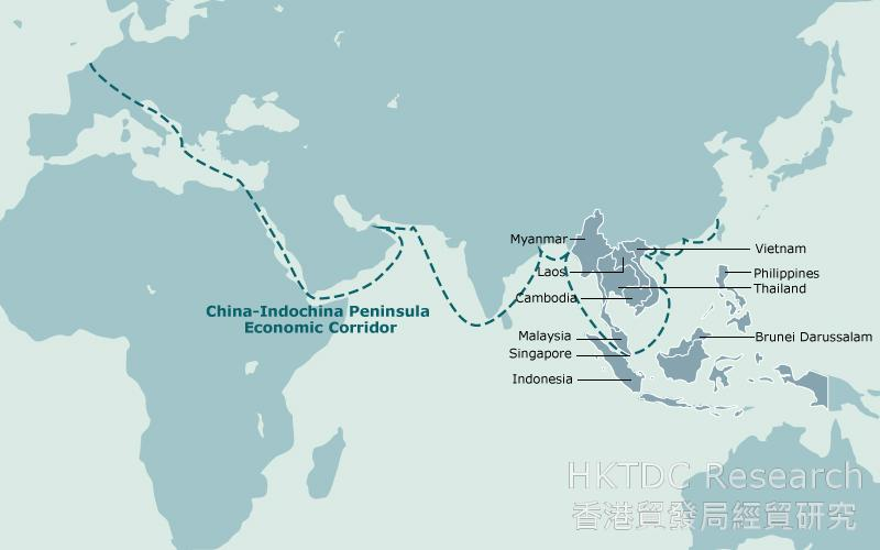 Map: China-Indochina Peninsula Economic Corridor