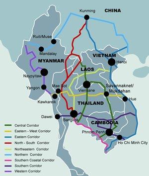 Map: GMS Economic Corridors