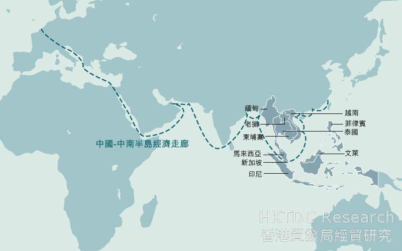 地圖: 中國-中南半島經濟走廊