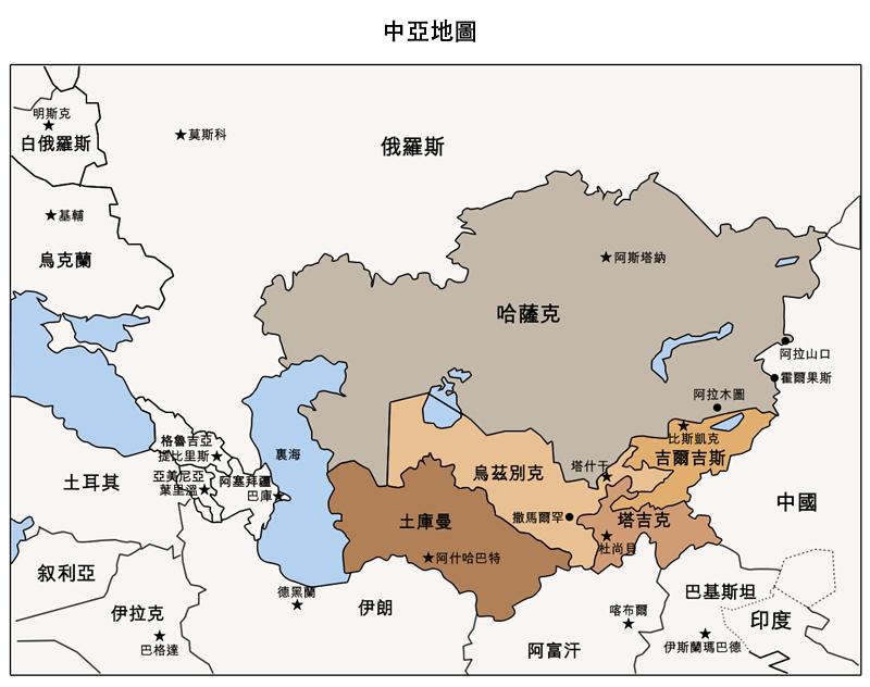 图片:中亚地图