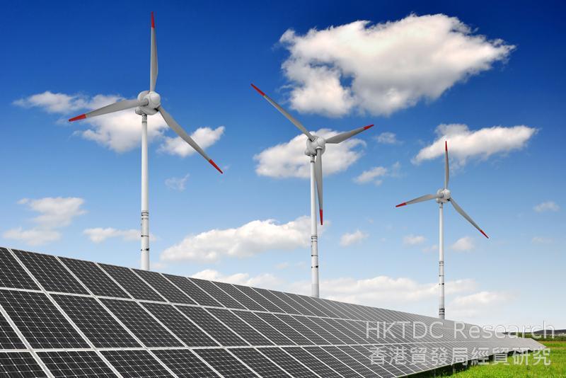 相片:「十三五」規劃鼓勵新能源產業發展