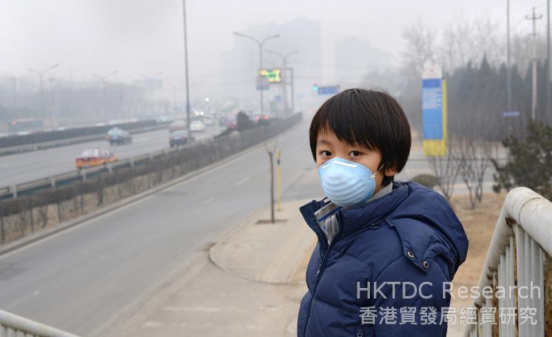 相片:中國加強應對環境污染問題