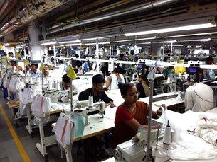 Photo: An export-oriented garment factory