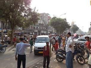 Photo: Congested traffic in Delhi's urban areas