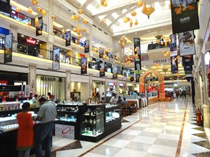 Photo: Modern shopping malls with international brands are popular in India