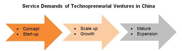 Chart: Service Demands of Technopreneurial Ventures in China