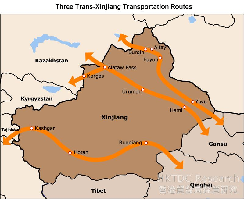 Picture: Three Trans-Xinjiang Transportation Routes