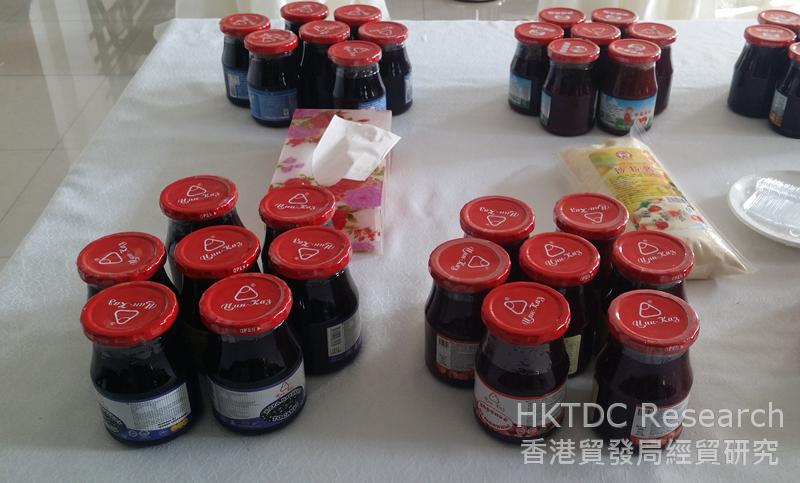 Photo: Jam produced by Tsinfood for export to Kazakhstan