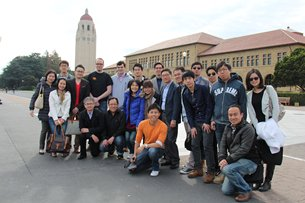 Photo: Cyberport's delegation to Stanford University. (Images courtesy of Cyberport)