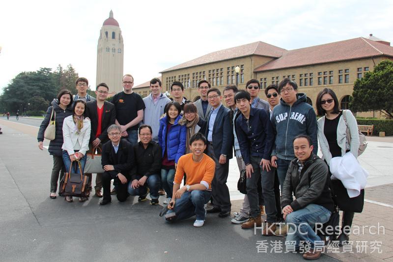 相片:香港數碼港代表團訪問美國史丹福大學 (相片由香港數碼港提供)