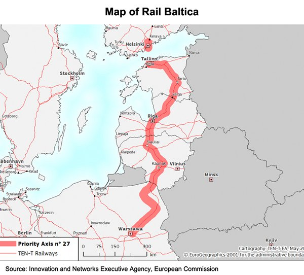 Picture: Map of Rail Baltica
