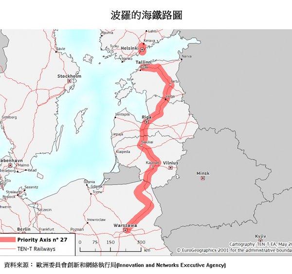 圖片:波羅的海鐵路圖