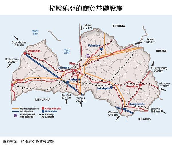 图片:拉脱维亚的商贸基础设施