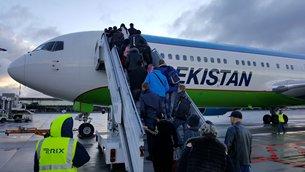 相片:从塔什干经里加国际机场到纽约的航班
