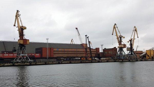 相片:文茨皮尔斯是拉脱维亚最大港口之一