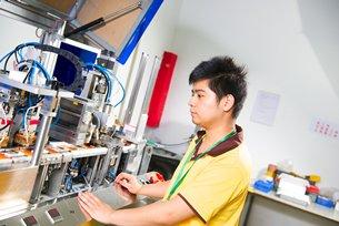 相片:中國希望提升科技研發活動。