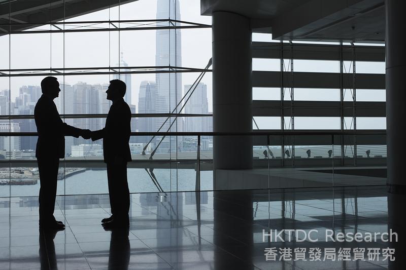相片:香港是中國內地投資海外的首選服務平台。