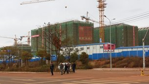 Photo: Dianzhong New Area under construction